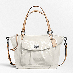 COACH EMBOSSED OP ART PATENT LEAH TOTE - ONE COLOR - F13178