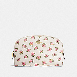 COSMETIC CASE 22 WITH FLOWER PATCH PRINT - LI/FLOWER PATCH - COACH F13317