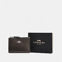 BOXED MINI SKINNY ID CASE - SV/METALLIC GRAPHITE - COACH F14470