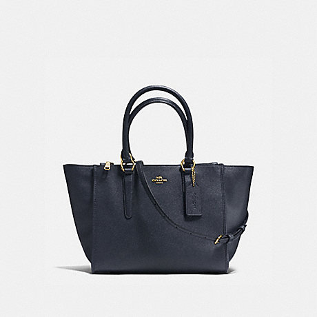 COACH f14928 CROSBY CARRYALL MIDNIGHT/LIGHT GOLD