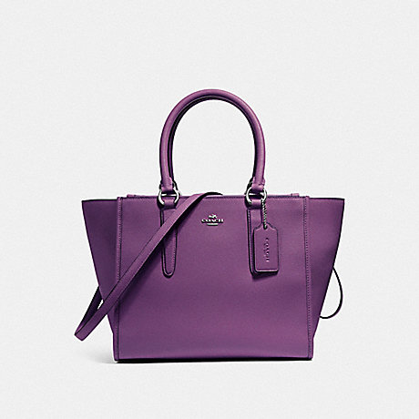 COACH CROSBY CARRYALL - SILVER/BERRY - f14928