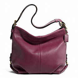 COACH LEATHER DUFFLE - BRASS/BORDEAUX - F15064