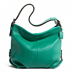 LEATHER DUFFLE - SILVER/BRIGHT JADE - COACH F15064