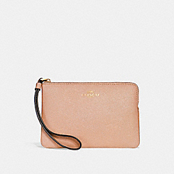 COACH CORNER ZIP WRISTLET - nude pink/imitation gold - F15154