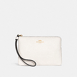 CORNER ZIP WRISTLET - CHALK/IMITATION GOLD - COACH F15154