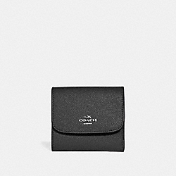 SMALL WALLET - SILVER/BLACK - COACH F15622
