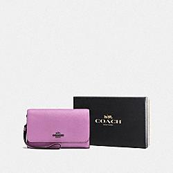 BOXED PHONE CLUTCH - DK/LILY - COACH F16115
