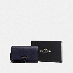 BOXED PHONE CLUTCH - LI/NAVY - COACH F16115