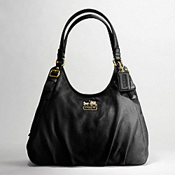 COACH MADISON LEATHER MAGGIE SHOULDER BAG - ONE COLOR - F16503