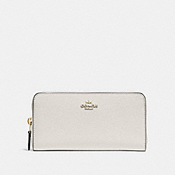COACH ACCORDION ZIP WALLET - CHALK/LIGHT GOLD - F16612