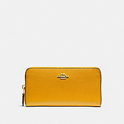 COACH ACCORDION ZIP WALLET - GOLDENROD/light gold - F16612