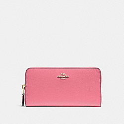 COACH ACCORDION ZIP WALLET - PEONY/light gold - F16612