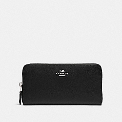 ACCORDION ZIP WALLET - BLACK/SILVER - COACH F16612