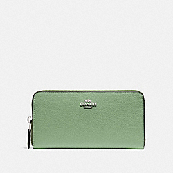 COACH ACCORDION ZIP WALLET - CLOVER/SILVER - F16612