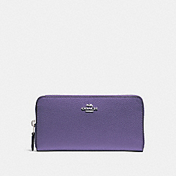 ACCORDION ZIP WALLET - LIGHT PURPLE/SILVER - COACH F16612