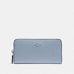 ACCORDION ZIP WALLET - STEEL BLUE - COACH F16612