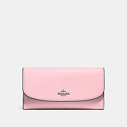 CHECKBOOK WALLET - SILVER/BLUSH 2 - COACH F16613