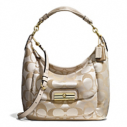 KRISTIN SIGNATURE SATEEN LARGE HOBO COACH F16781