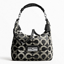 KRISTIN OP ART SATEEN LARGE HOBO