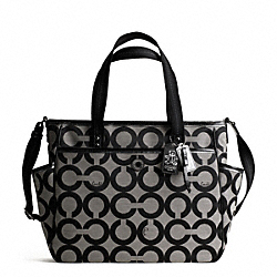 COACH BABY BAG OP ART TOTE - ONE COLOR - F16981
