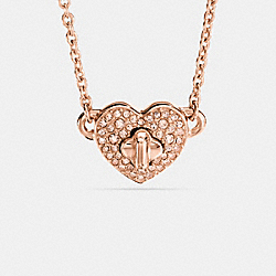 COACH TWINKLING HEART NECKLACE - ROSEGOLD - F17101