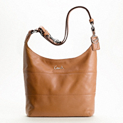 LEATHER PIECED DUFFLE