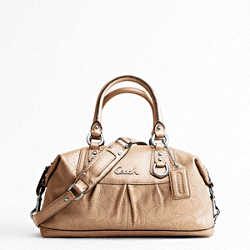 ASHLEY PERFORATED LEATHER SATCHEL