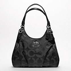 COACH MADISON OP ART SATEEN MAGGIE SHOULDER BAG - ONE COLOR - F17689