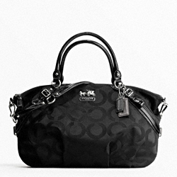 MADISON OP ART SATEEN LARGE SOPHIA SATCHEL