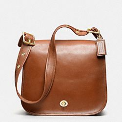 COACH CLASSIC LEATHER STEWARDESS BAG - f17996 -  BRITISH TAN