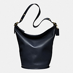COACH CLASSIC DUFFLE BAG IN LEATHER - BRASS/NAVY - COACH F17998