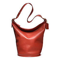 COACH CLASSICS LEATHER DUFFLE - BRASS/VERMILLION - COACH F17998
