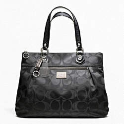 POPPY SIGNATURE SATEEN GLAM TOTE