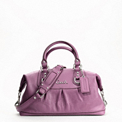 ASHLEY STITCHED LEATHER SATCHEL