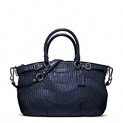 COACH MADISON GATHERED LEATHER SOPHIA SATCHEL - QB/NAVY - F18620
