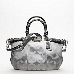 MADISON OP ART SATEEN SOPHIA SATCHEL