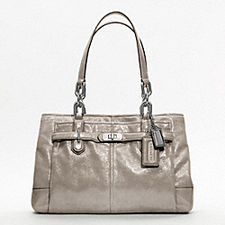 CHELSEA METALLIC LEATHER CARRYALL