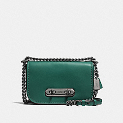 COACH SWAGGER SHOULDER BAG 20 - DK/DARK TURQUOISE BLACK - COACH F18858