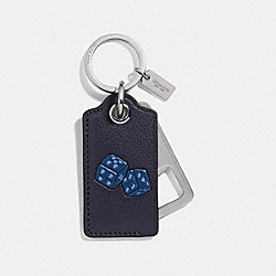 VARSITY BOTTLE OPENER KEY FOB - BLACK - COACH F18888