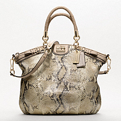 MADISON EMBOSSED METALLIC PYTHON LINDSEY