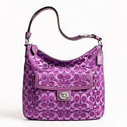 PENELOPE SIGNATURE SATEEN CONVERTIBLE SHOULDER BAG