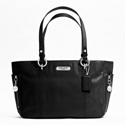 GALLERY LEATHER ZIPPER TOTE