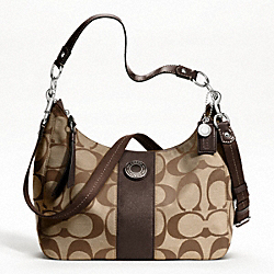 SIGNATURE STRIPE CONVERTIBLE HOBO