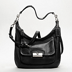 KRISTIN LEATHER HOBO COACH F19293