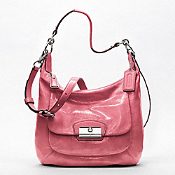 COACH KRISTIN PATENT LEATHER HOBO - SILVER/ROSE - F19299