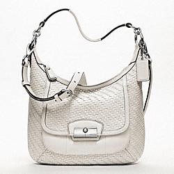 COACH KRISTIN WOVEN LEATHER HOBO - ONE COLOR - F19314
