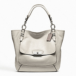 KRISTIN PINNACLE LEATHER TOTE - f19385 - 12674