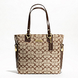 GALLERY SIGNATURE ZIPPER TOTE