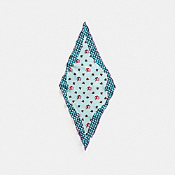 WESTERN FLOWER SILK TWILL DIAMOND - f19421 - AQUA