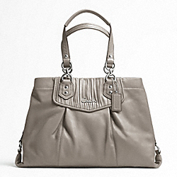 ASHLEY GATHERED LEATHER CARRYALL
